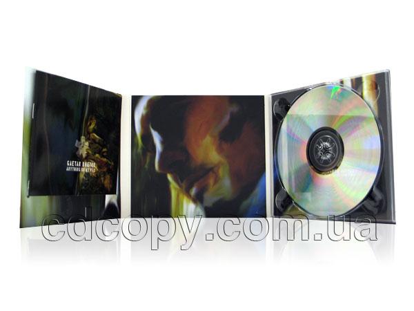 Упаковка Диджипак (Digipack) на 1 CD с прорезью для буклета