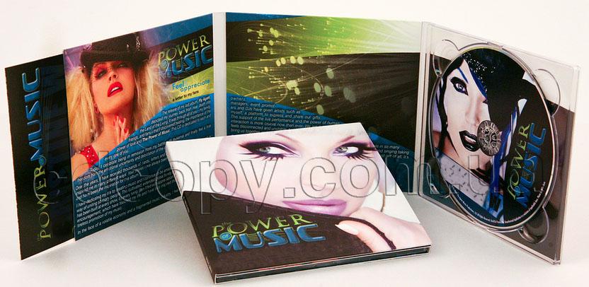 Упаковка Диджипак (Digipack) на 1 CD с  рукавом для буклета