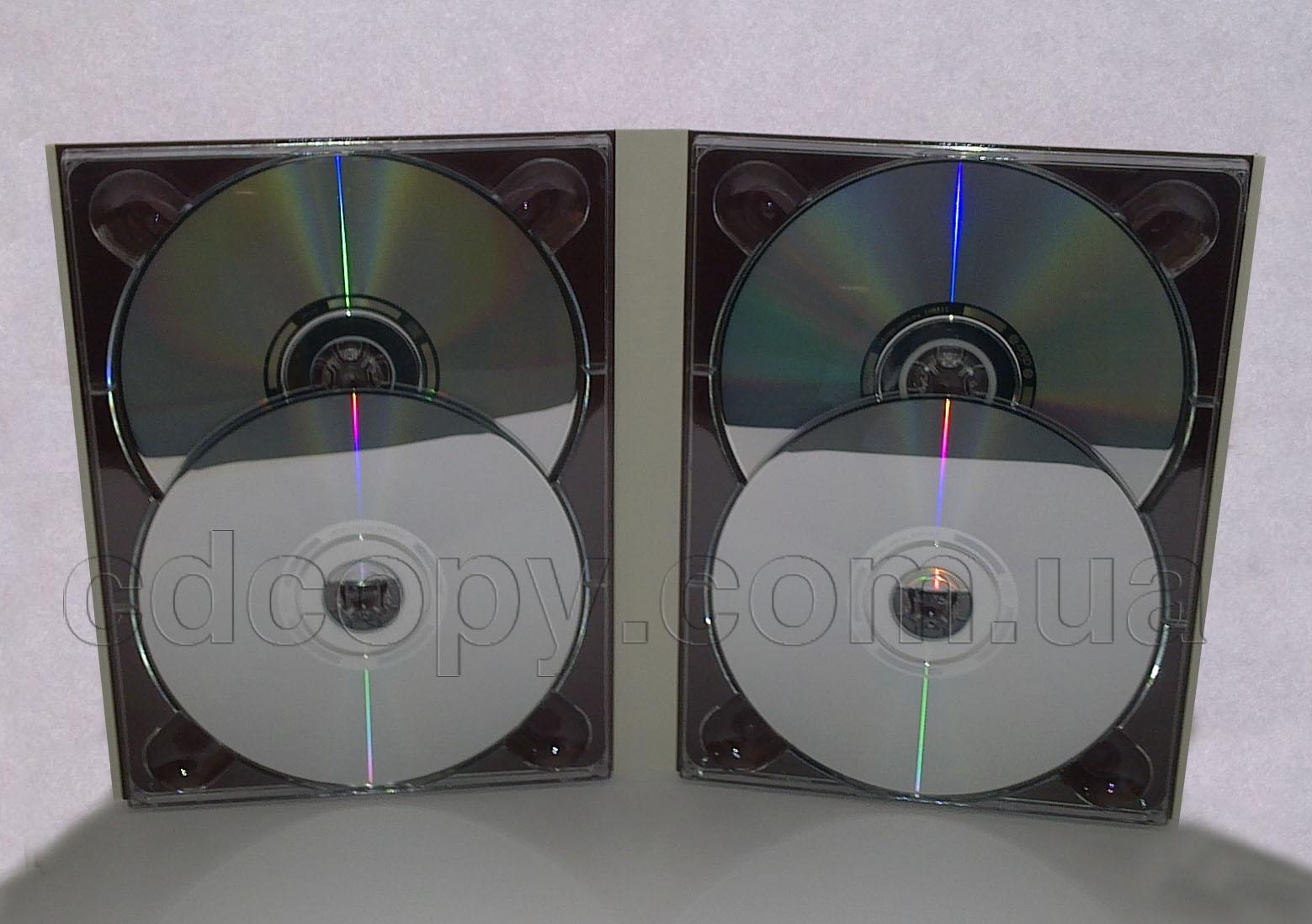Упаковка Диджипак (DigiPack) на 4 DVD