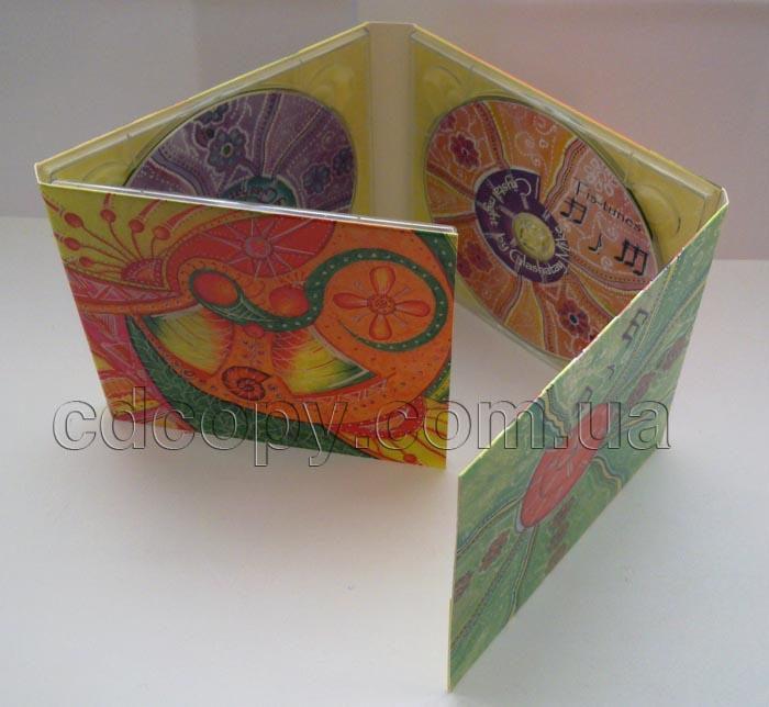 Упаковка Диджипак (DigiPack) на 3 CD