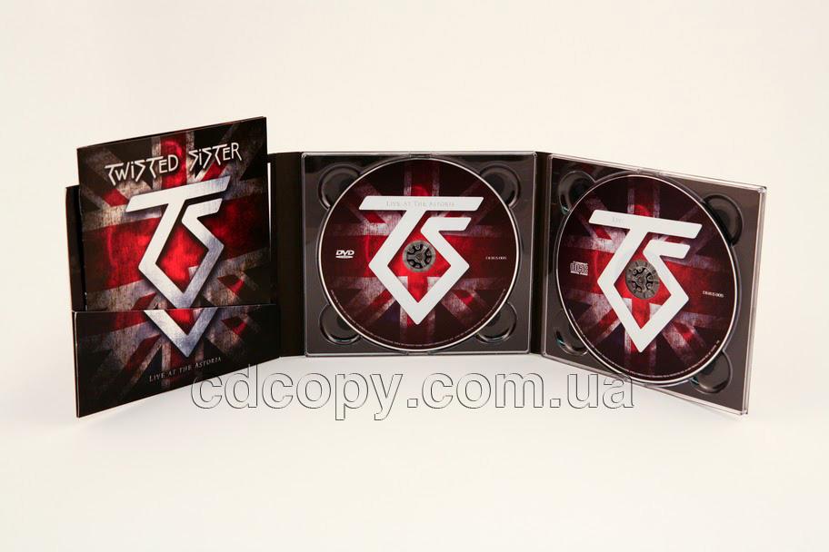 Упаковка Диджипак (DigiPack) на 2 CD с карманом для буклета