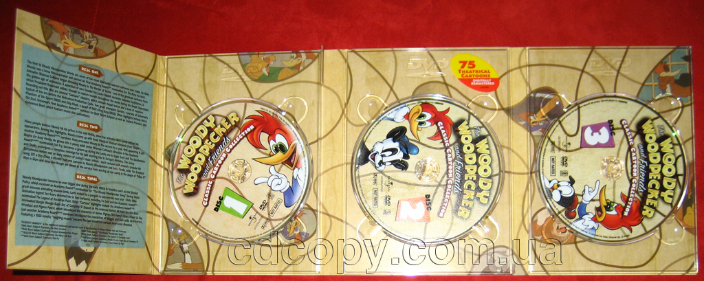 Упаковка Диджипак (DigiPack) на 3 DVD