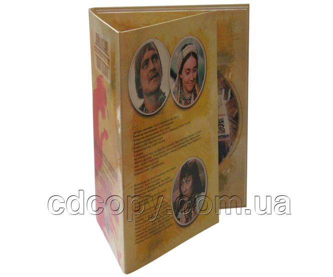 Упаковка Диджипак (DigiPack) на 1 DVD (3-x лепестковый)