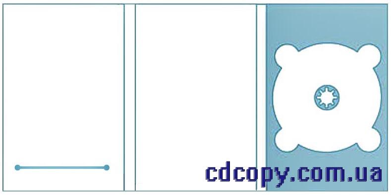 Упаковка Диджипак (DigiPack) на 1 DVD с прорезью для буклета