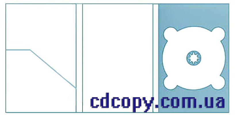 Упаковка Диджипак (DigiPack) на 1 DVD с карманом для буклета