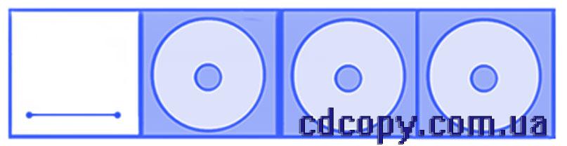 Упаковка Диджипак (DigiPack) на 3 CD  с прорезью для буклета